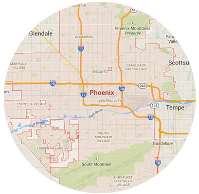 Phoenix Garage Door Service Areas
