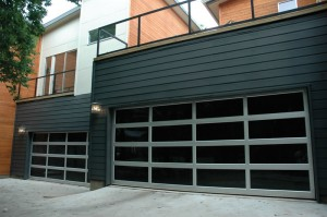 contemporary style glass garage door phoenix az